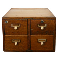 Solid Oak Library Bureau Makers Card Catalog C1935
