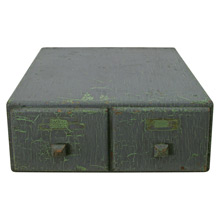Grey-Green Card Catalog Cabinet C1935