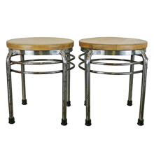 Pair of ISA International Inc Deco Style Stools C1970's