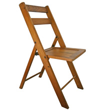 Vintage Opened Backed Oak & Maple Folding Chair C1940s