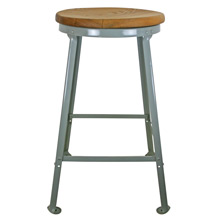 NOS Workshop Stool W/ Blonde Oak Seat C1960