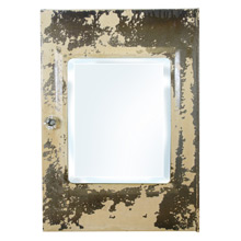 Chipped Industrial Medicine Cabinet W/ Beveled Mirror C1925