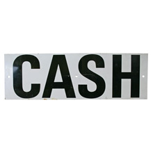Steel Mid-Century CASH Sign C1955