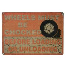 Chocked Wheels Truck Stop Signs C1955
