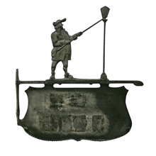 Lamplighter House Sign Plaque C1940