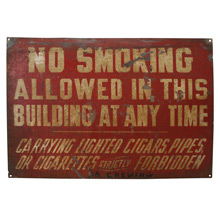 Rustic No Smoking Sign C1935
