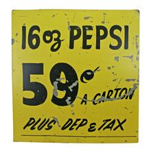 Mid-Century Corner Store Pepsi Sign C1950