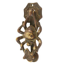 Remarkable Brass Spider and Fly Doorknocker C1925
