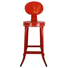 Bright Red Kitchen Stool C1940