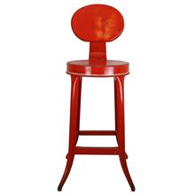 Bright Red Kitchen Stool C1940