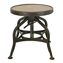 Petite Adjustable Height Toledo Factory Stool C1930