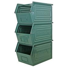 Set of Three Industrial Mint Green Stack-Bins C1960