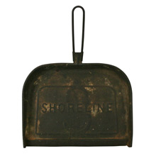 Rusted Steel Shoreline Railroad Dustpan C1915