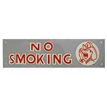 Mid-Century NOS No Smoking Sign in Grey c1965