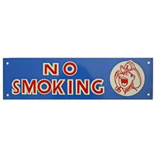 Mid-Century NOS No Smoking Sign in Blue c1965