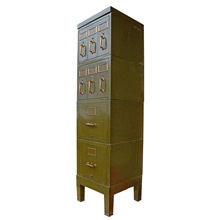 Olive Green Yawman and Erbe Filing Cabinet c1920s