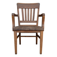 Solid Oak Square-Backed Library Chair C1935