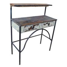 Rustic Wood and Metal Desk c1935