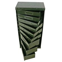 Industrial Green 9-Drawer Hardware Cabinet C1950