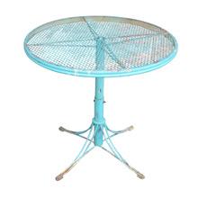 Mid-Century Turquoise Garden Table c1955