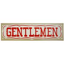 Mid-Century NOS Gentlemen Sign in Silver c1965