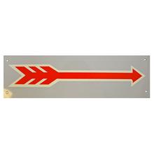 Mid-Century NOS Red Arrow Sign in Grey c1965