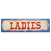 Mid-Century NOS Ladies Sign in Blue c1965