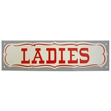 Mid-Century NOS Ladies Sign in Grey c1965