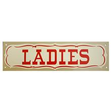 Mid-Century NOS Ladies Sign in Silver c1965