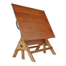 Oak and Pine Drafting Table c1940s