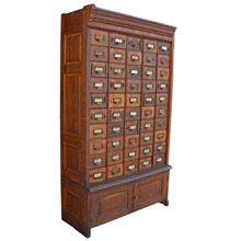 Enormous 50-Drawer Oak Hardware Cabinet c1920s