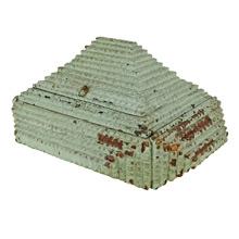 Mint-Green Tramp Art Box c1915
