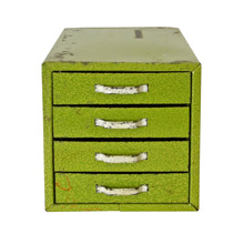 Lime Green Industrial Parts Cabinet c1935