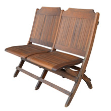 Slatted Maple Tandem Folding Chairs C1925