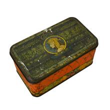 Sunshine Fruitcake Tin w/ Egyptian Revival Motif c1930