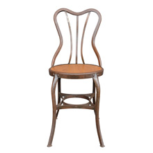 Raw Steel Toledo Cafe Chair w/ Oak Seat C1930