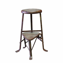 Raw Industrial Angle Iron Machinists Stool C1930