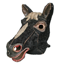 Vintage Black Horse Amusement Park Mask C1930s