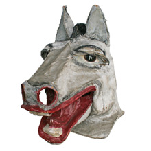 Vintage Grey Horse Masquerade Mask C1920s