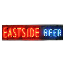 Early Eastside Beer Neon Sign C1930s
