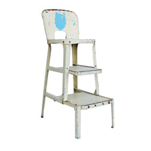 Wonderfully Chipped Kitchen Stool and Step Ladder C1940
