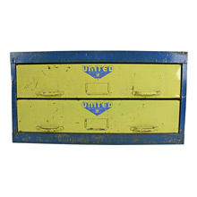 Blue and Yellow United Tool Company Cabinet C1955