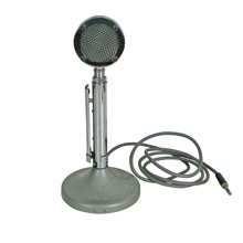 Polished Chrome Astatic D-104 Microphone C1960