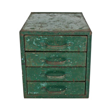 Chipped Green Parts Cabinet C1940