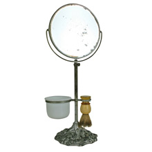 Dandy Little Shaving Mirror W/ Implements C1920s