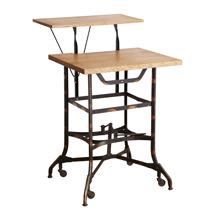 Salvage Toledo Typing Desk Base W/ Reclaimed Oak Top