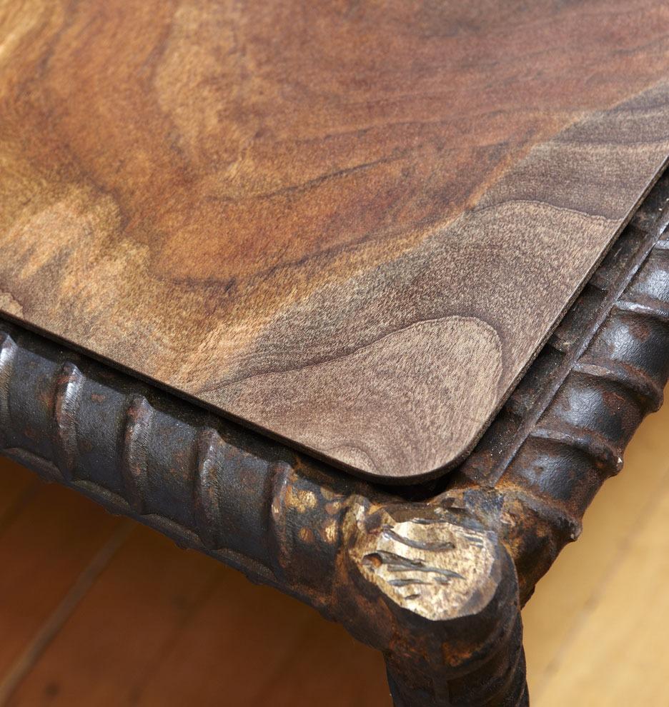 Salvage Rebar Coffee Table Rejuvenation