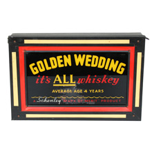 Golden Wedding Whiskey Marquee Sign C1935