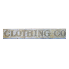 10' Hand-Painted Clothing Company Sign C1900