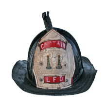 Vintage Captain Fireman Helmet C1950